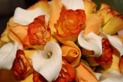 Orange and Ivory Bouquet