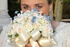 White & Light Blue Bouquets