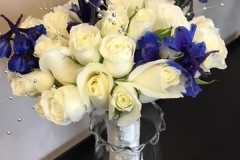 White & Dark Blue Bouquet